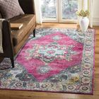 Doucet Pink/Blue Area Rug Rug Size: Rectangle 5'1