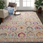 Lowndes Bohemian Ivory/Blue Area Rug Rug Size: Rectangle 7'10