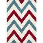 Gist Kids Ivory & Red Shag Area Rug Rug Size: Rectangle 5'3