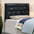 Sophia Rose Upholstered Panel Headboard Size: Full / Queen, Color: White