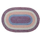 Servantes Hand-Braided Blue/Red Area Rug Rug Size: Round 12'