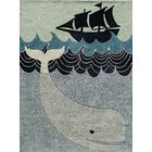 Johnnie Hand-Tufted Blue/Gray Kids Rug Rug Size: Rectangle 3' x 5'