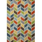 Eli Hand-Tufted Blue/Green/Yellow Area Rug Rug Size: Rectangle 5' x 8'