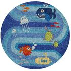 Johnnie Hand-Tufted Blue Kids Rug Rug Size: Rectangle 8' x 10'