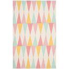 Backgammon Hand-Loomed Pink/Yellow Area Rug Rug Size: Rectangle 8' x 10'