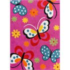 Juliet Daisy Pink Area Rug Rug Size: Rectangle 5' x 7'