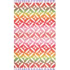 Sylva Red/Pink Area Rug Rug Size: Rectangle 7'6