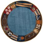 Johnnie Denim Hand-Tufted Blue Kids Rug Rug Size: Rectangle 8' x 10'