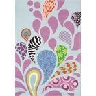 Fabio Hand-Tufted Blue/Pink Kids Rug Rug Size: Rectangle 3' x 5'