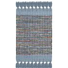 Abner Hand-Woven Blue/Gray Area Rug Rug Size: Square 6'