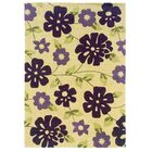 Ronnie Hand-Tufted Purple/Beige Area Rug Rug Size: Rectangle 8' x 10'