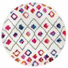 Gwendolyn Pink Area Rug Rug Size: Round 5' 3