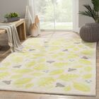 Annie Green/Ivory Area Rug Rug Size: Rectangle 7'6