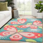 Annie Hand-Tufted Blue/Pink Area Rug Rug Size: Rectangle 3' x 5'