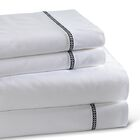 Circle Link 300 Thread Count 100% Cotton Sheet Set Color: Black, Size: King