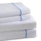 Circle Link 300 Thread Count 100% Cotton Sheet Set Color: Blue, Size: King
