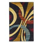 Wavy Circles Yellow/Blue/Red Area Rug Rug Size: Rectangle 8' x 10'