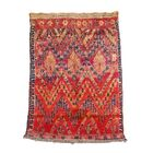 Beni M'Guild Moroccan Berber Hand-Woven Wool Red Area Rug