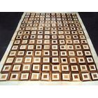 Patchwork Box Brown Area Rug Rug Size: Rectangle 4' x 6'