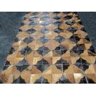 Patchwork Leather Geo Brown Area Rug Rug Size: Square 4'