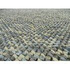 Cobblestone Gray Area Rug Rug Size: Square 6'