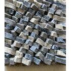 Cobblestone Coal/Silver Area Rug Rug Size: Rectangle 9' x 12'