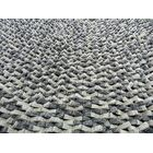 Cobblestone Coal Silver Area Rug Rug Size: Square 5'