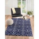 Courtdale Navy Blue Area Rug Rug Size: Rectangle 8' x 11'
