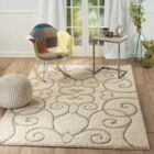 Bearcreek Cream Area Rug Rug Size: 7'5