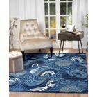Stewartville Blue Area Rug Rug Size: 7'4'' x 10'6''
