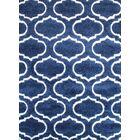 Quaoar Shaggy Trellis Navy Blue Area Rug Rug Size: 4' x 6'