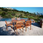 Monterry Traditional 7 Piece Wood Dining Set