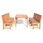 Monterry Extendable 7 Piece Wood Dining Set Table Size: 71