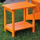 Arcel Rectangular Cedar Side Table Color: Tangerine