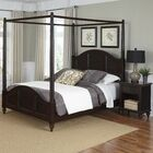 Harrison Traditional Canopy 2 Piece Bedroom Set Color: White, Size: Queen
