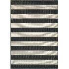 Gallinas Onyx/ Ivory Indoor/Outdoor Area Rug Rug Size: Rectangle 9'2