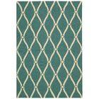 Merganser Hand-Tufted Aqua/Beige Indoor/Outdoor Area Rug Rug Size: Rectangle 3'6