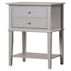 Dmitry End Table With Storage Color: Gray