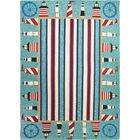 Dalvey Lighthouse Brigade Turquoise/Red Indoor/Outdoor Area Rug Rug Size: Rectangle 5' x 8'