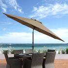 Markley 10' Market Umbrella Fabric Color: Sandy Brown