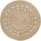 Summerland Hand-Woven Wheat Area Rug Rug Size: Round 5'