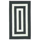 Mitscher Hand-Braided Black/White Indoor/Outdoor Area Rug Rug Size: Concentric 3' x 5'