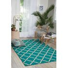Merganser Hand-Tufted Aqua/Beige Indoor/Outdoor Area Rug Rug Size: Rectangle 5' x 7'6
