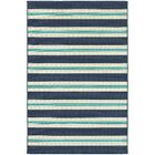 Springwater Blue/Ivory Indoor/Outdoor Area Rug Rug Size: Rectangle 7'10
