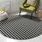Verde Ivory/Navy Indoor/Outdoor Area Rug Rug Size: Rectangle 3'6