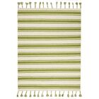 Baird Hand-Woven Ivory/Green Area Rug Rug Size: Rectangle 5' x 7'6