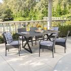 Neville 7 Piece Dining Set with Cushions Color: Gray
