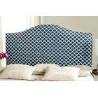 Little Deer Isle Upholstered Panel Headboard Size: Full, Color: Navy/White