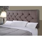 Jackie Upholstered Panel Headboard Size: Full, Upholstery: Gray / Red Tint
