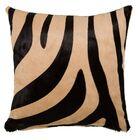 Zebra Throw Pillow Size: 18